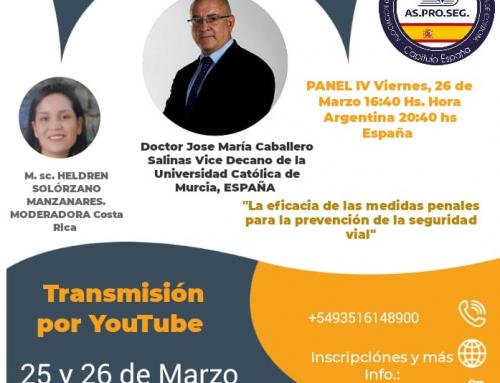 Participación del despacho Caballero Salinas  en el Congreso Virtual Iberoamericano de Accidentología y Criminología Vial